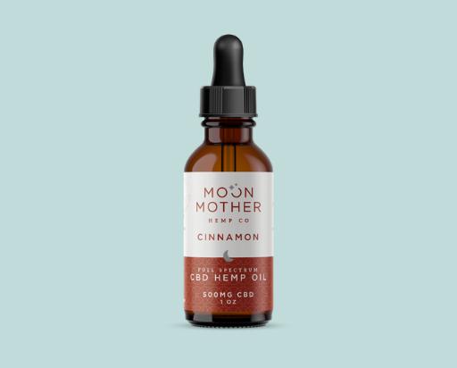 moon mother hemp Full Spectrum Hemp Oil Tincture Cinnamon